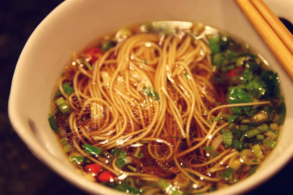 Home Cooking Recipe: a bowl of hot noodle soup