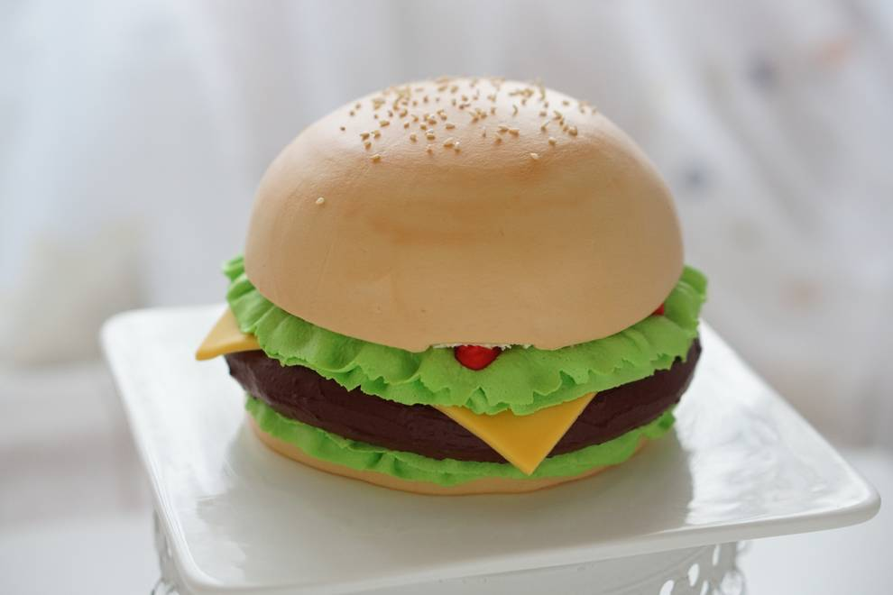 Home Cooking Recipe: a cake that looks like a burger