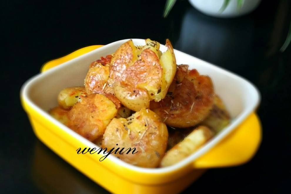 Home Cooking Recipe: a dish of peppery potatoes
