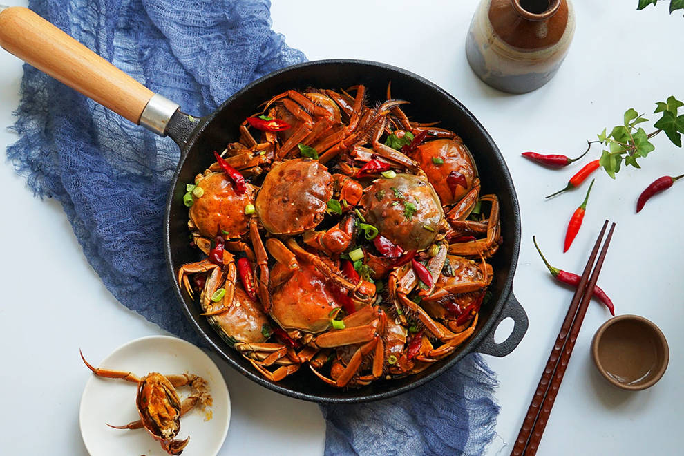 Home Cooking Recipe: A pot of spicy crabs in the Mid-Autumn Festival