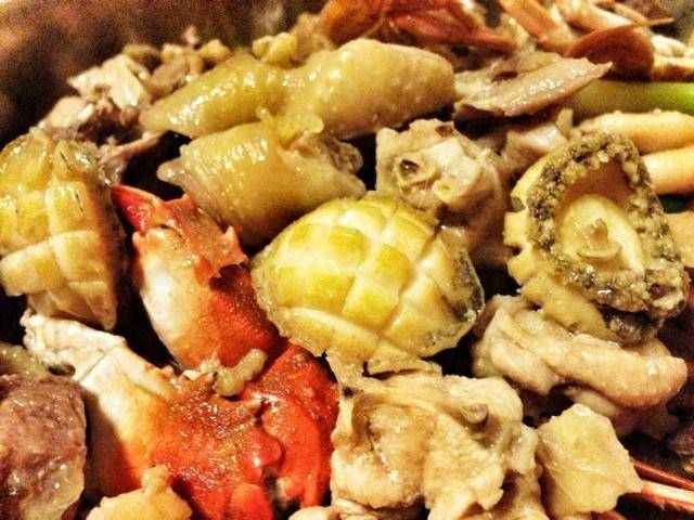 Home Cooking Recipe: Abalone, chicken, crab