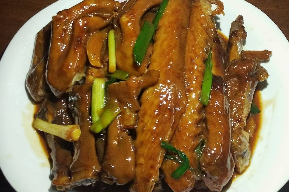 Home Cooking Recipe: Abalone, goose, wing
