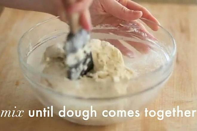 Home Cooking Recipe: Add flour and mix with a silicone spatula