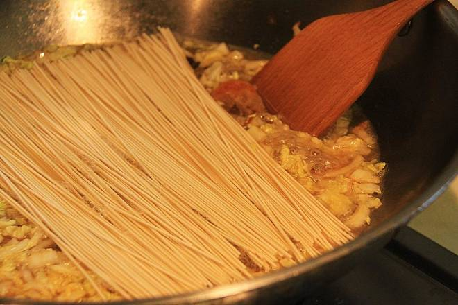 Home Cooking Recipe: Add noodles, cook until cooked
