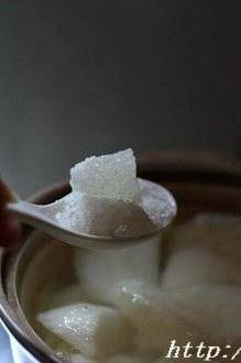 Home Cooking Recipe: Add rock sugar according to your taste. If you don't like to eat sweet, don't let go.