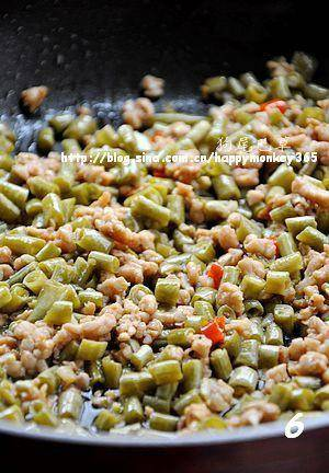 Home Cooking Recipe: Add the fried minced meat, stir fry evenly and continue to fry for 2-3 minutes.
