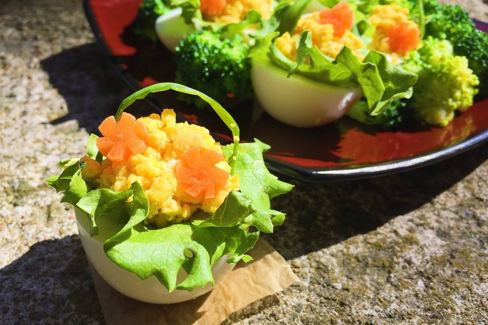 Home Cooking Recipe: Advanced version of the devil egg - egg flower basket