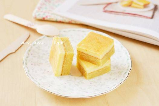 Home Cooking Recipe: Almond cheese double cake block