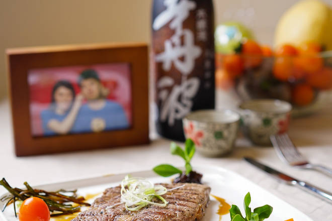 Home Cooking Recipe: Although the usual match is 'red wine with red meat', Japanese-style seasoned steak, a cup of Japanese sake is also very good, I wish you all a happy Valentine's Day!