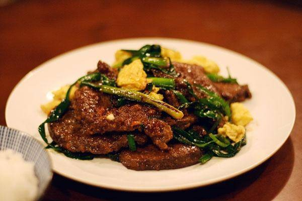 Home Cooking Recipe: Amaranth pork liver