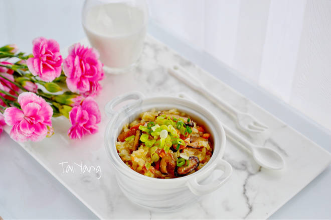 Home Cooking Recipe: Ancient morning oil rice! If you are also eager to use the taste of love, unforgettable ~ can leave a message to talk to me!