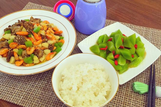 Home Cooking Recipe: And today's lunch