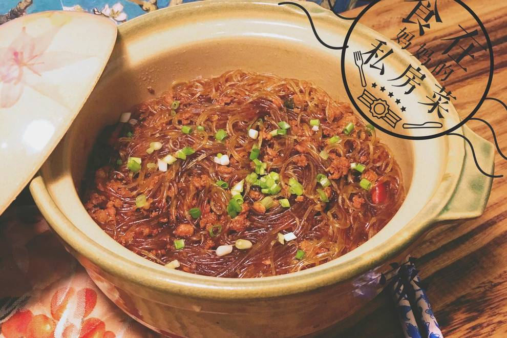 Home Cooking Recipe: Ants on the tree (meat minced meat)