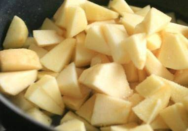 Home Cooking Recipe: Apple peeled to nuclear cut Xiaoding spare