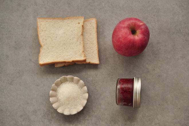 Home Cooking Recipe: Apple tries to pick red. Jam can be used in your favorite flavor, I use raspberry sauce
