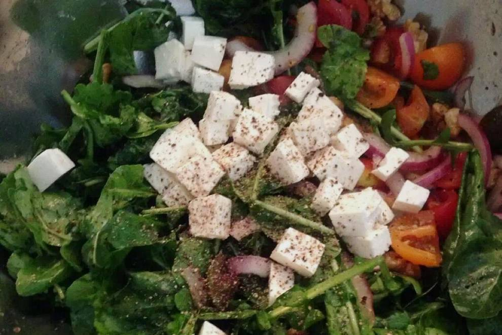 Home Cooking Recipe: Arugula feta cheese salad