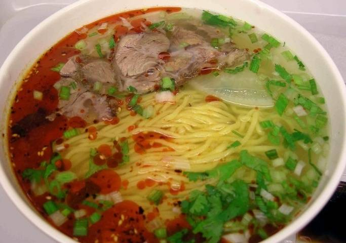 Home Cooking Recipe: Authentic Lanzhou Ramen (including ramen, broth, oily and spicy)