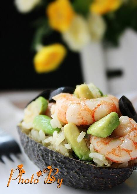 Home Cooking Recipe: Avocado Shrimp Fried Rice