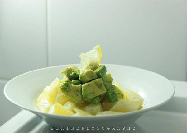 Home Cooking Recipe: Avocado with potato salad