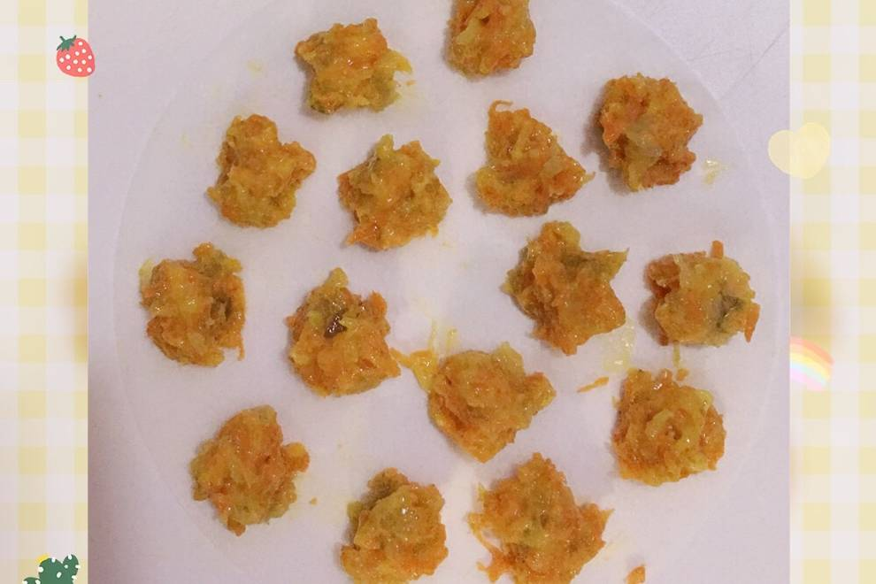 Home Cooking Recipe: Baby halal food supplement ???? shrimp and carrot balls (eight months and above)