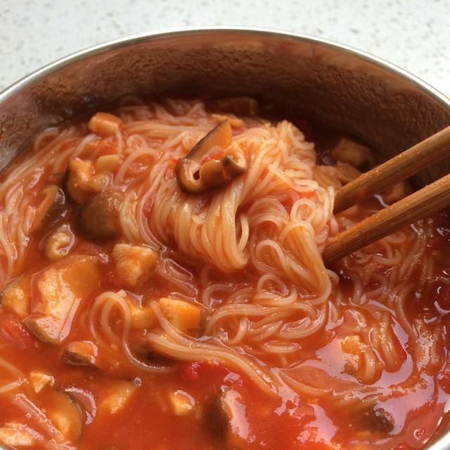 Home Cooking Recipe: Baby meal - tomato mushroom noodles