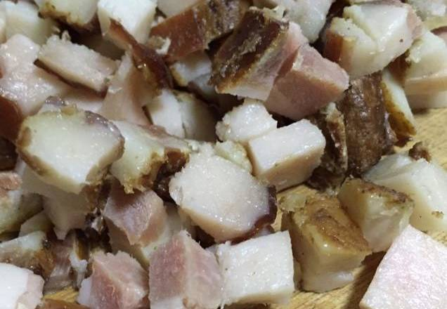 Home Cooking Recipe: Bacon diced