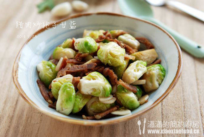 Home Cooking Recipe: Bacon fried spore cabbage
