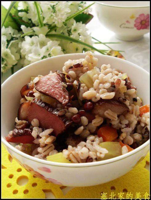 Home Cooking Recipe: Bacon, red bean, rice
