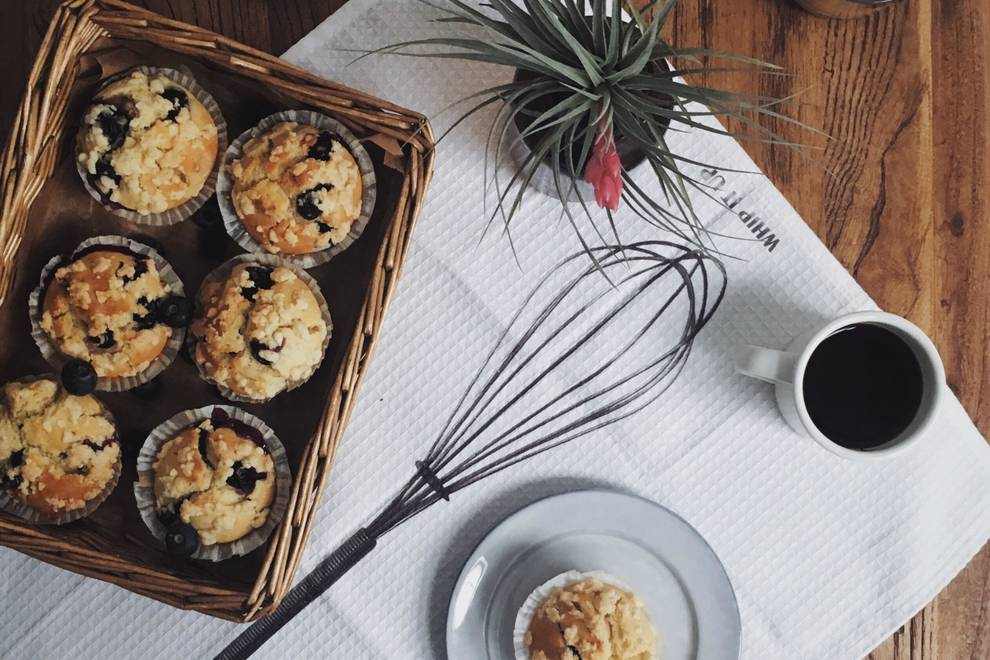 Home Cooking Recipe: Bailey Sweet Blueberry Muffin
