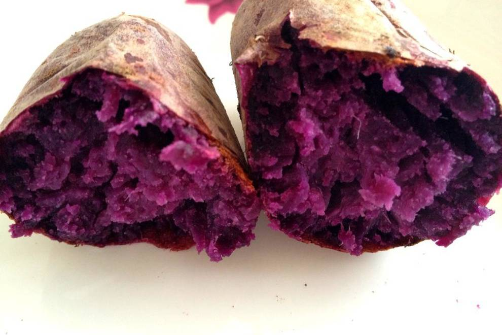 Home Cooking Recipe: Baked Purple Potato (Oven Version)