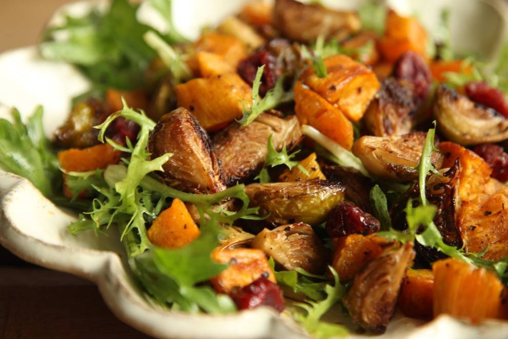 Home Cooking Recipe: Baked spore cabbage sweet potato salad