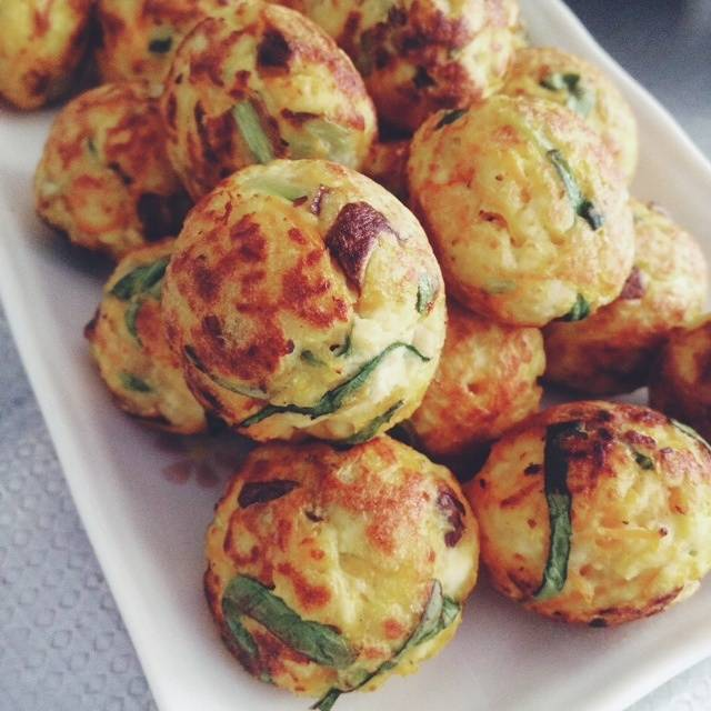 Home Cooking Recipe: Baked tofu vegetable balls (octopus grill plate)