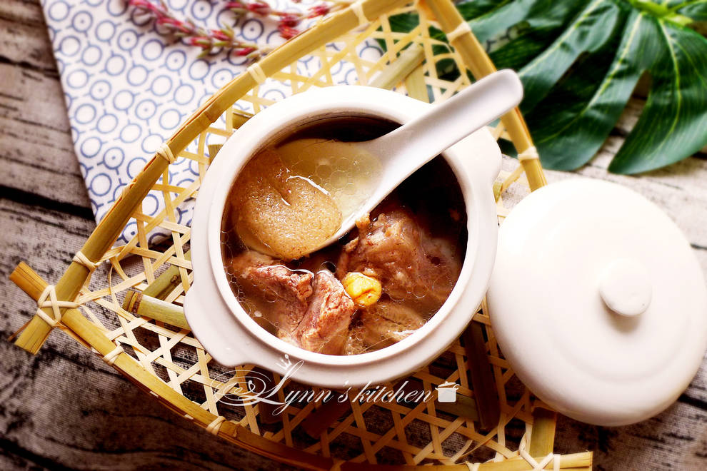 Home Cooking Recipe: Bamboo scallop ribs soup
