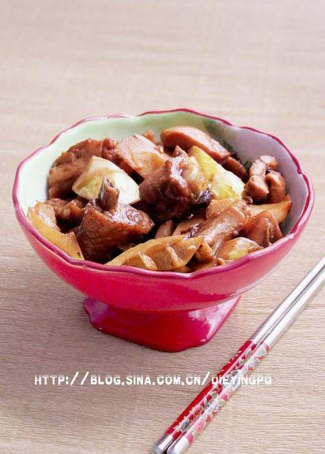 Home Cooking Recipe: Bamboo shoots, chicken nuggets