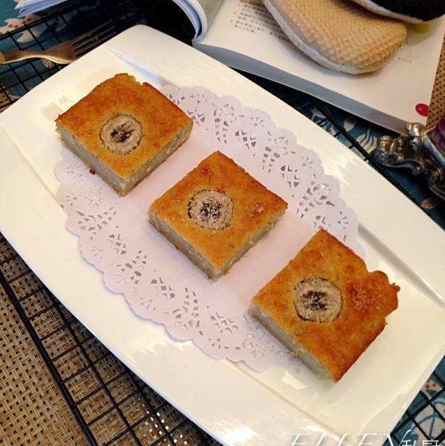 Home Cooking Recipe: 【Banana Coconut Cake】