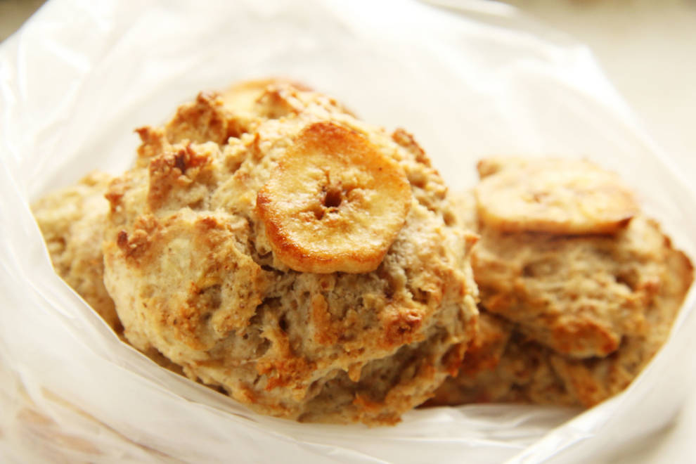 Home Cooking Recipe: Banana Whole Wheat Scone Banana Wholewheat Scone