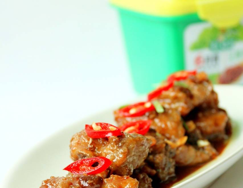 Home Cooking Recipe: Bean paste, steamed, pork ribs