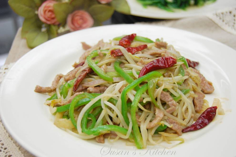 Home Cooking Recipe: Bean sprouts fried beef