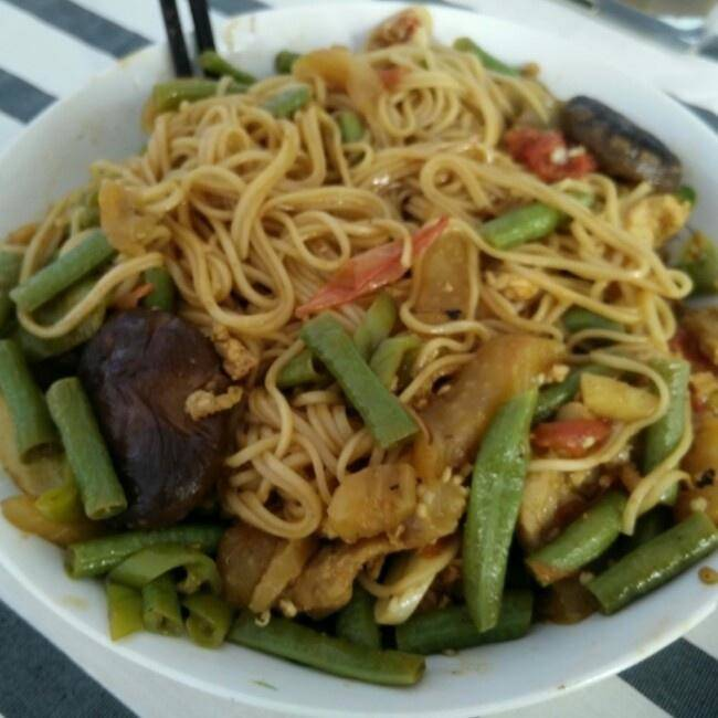 Home Cooking Recipe: Beans, eggplant, noodles