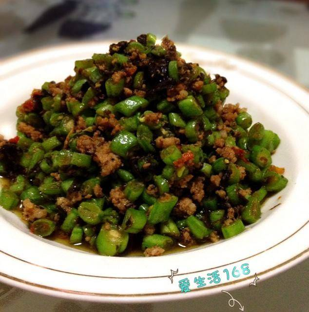 Home Cooking Recipe: Beans, olives, minced meat