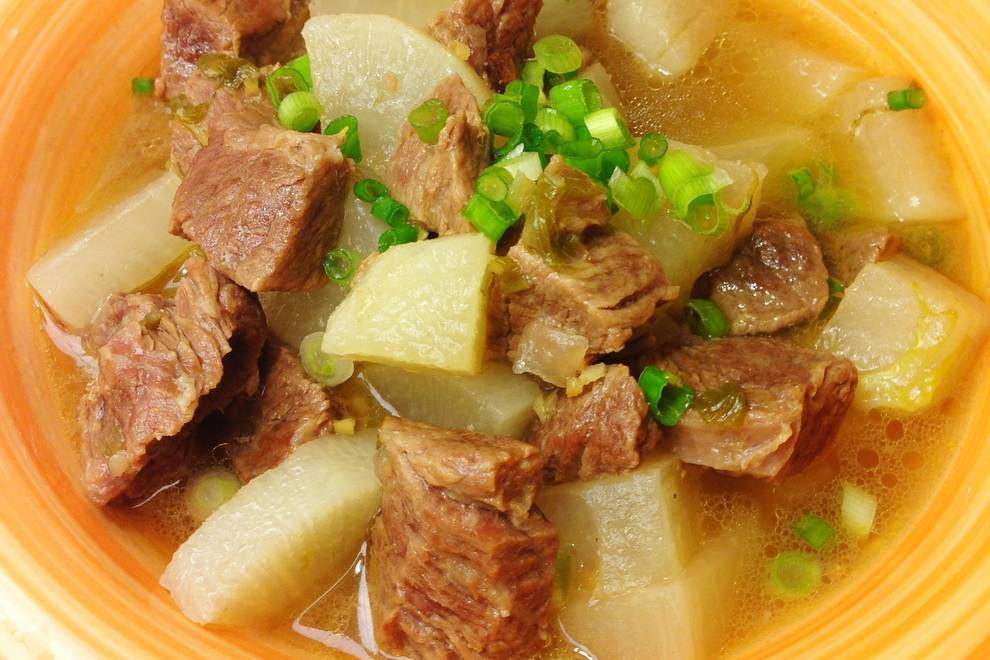 Home Cooking Recipe: Beef stewed radish