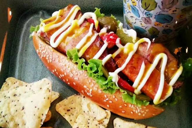 Home Cooking Recipe: Big hot dog
