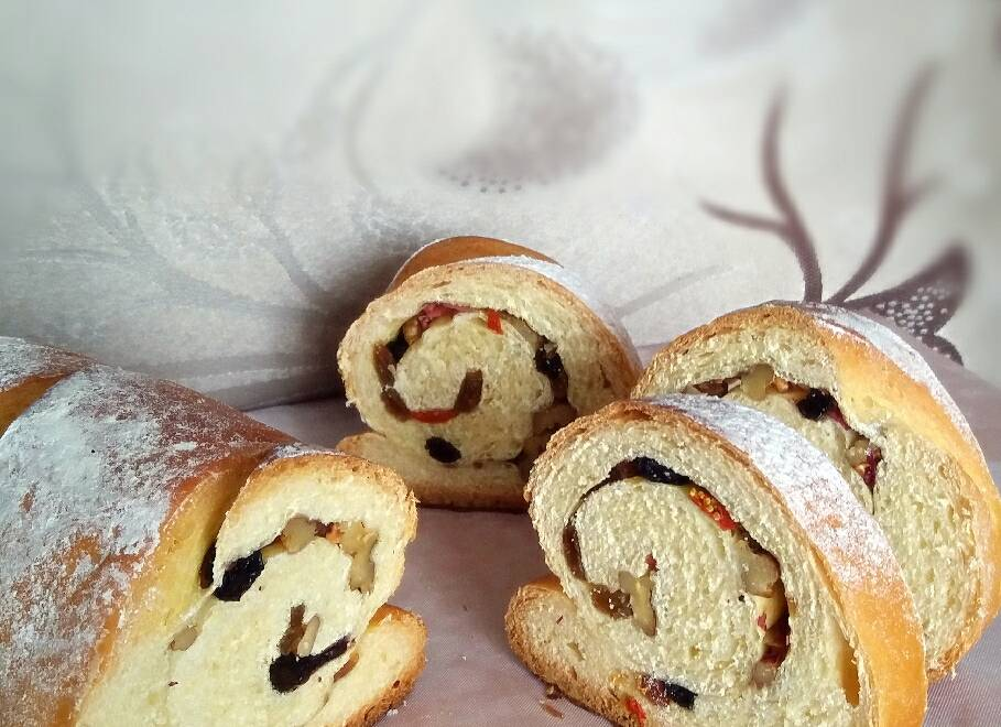 Home Cooking Recipe: Big Liba bread (European package) (chewy, full of nuts)