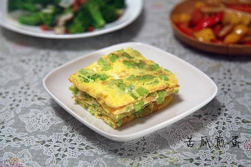 Home Cooking Recipe: Bitter gourd omelette
