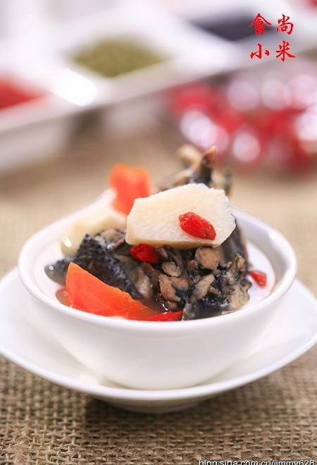 Home Cooking Recipe: Black chicken yam soup