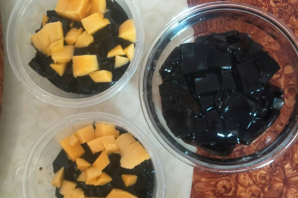 Home Cooking Recipe: Black jelly powder Cantonese version