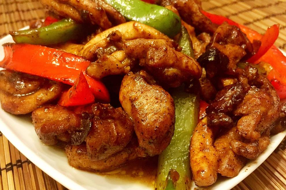 Home Cooking Recipe: Black pepper chicken