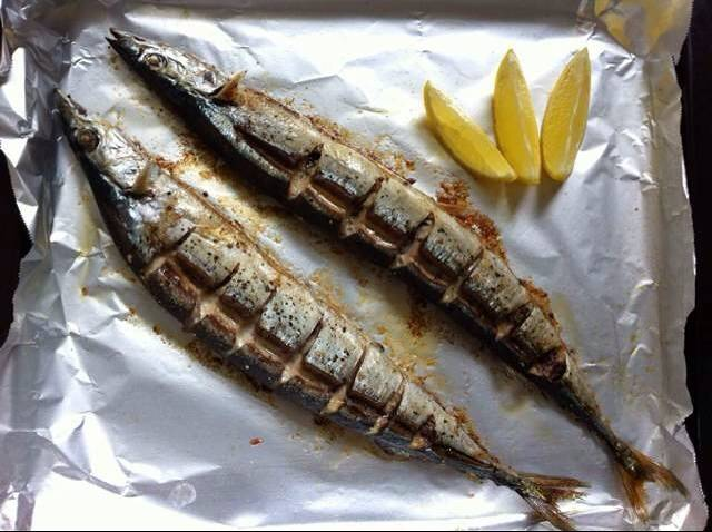 Home Cooking Recipe: Black pepper salt grilled saury