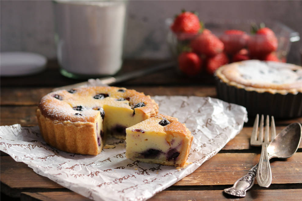 Home Cooking Recipe: Blueberry cheese pie