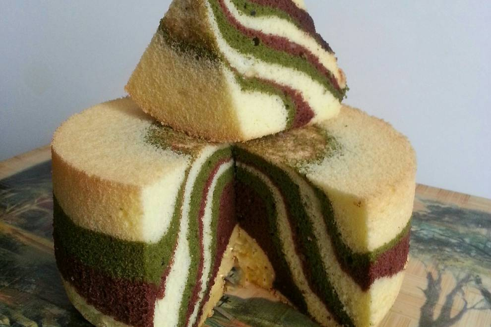 Home Cooking Recipe: Camouflage Hurricane Cake (six inches)
